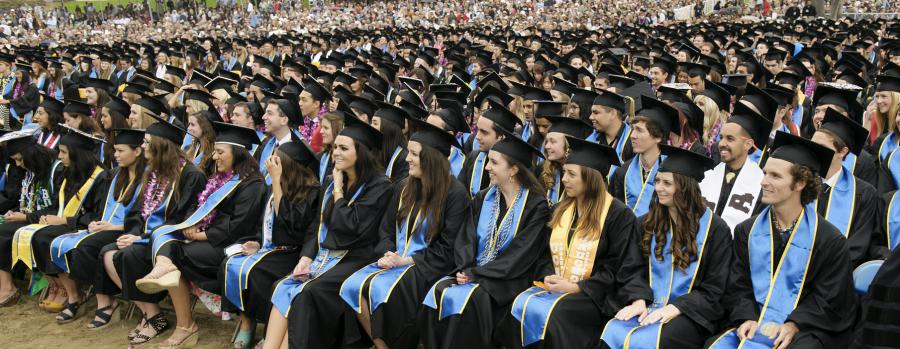 Students at Graudation