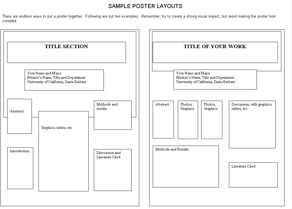 Research proposal poster sample
